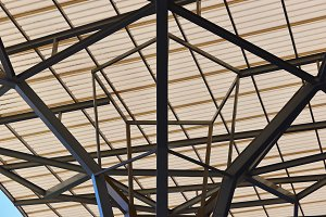 Truss Structure of industrial, construction roof