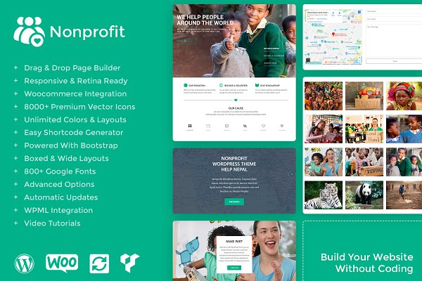 WordPress Non-Profit Themes: Visualmodo - Nonprofit WordPress Theme