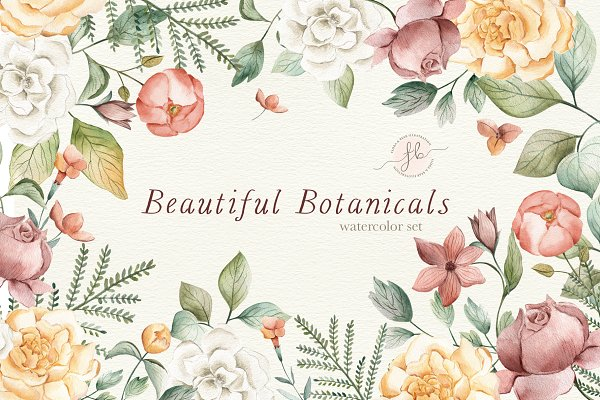 Illustrations and Illustration Products: Flora & Bear - Beautiful Botanicals