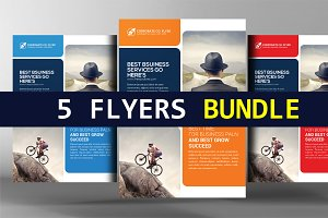 5 Global Network Services Flyers