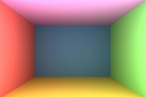 3D Rendering Colorful Empty Room