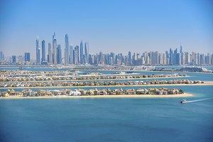 Dubai Marina, view from Palm Island