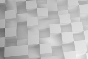 3D Cubes pattern on white background