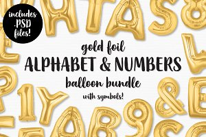 Gold Foil Balloon Bundle