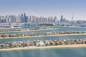 Panorama of Dubai Marina, UAE