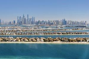 Dubai skyline. United Arab Emirates