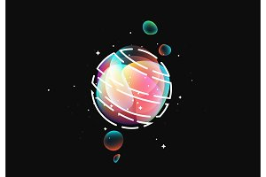 Fluid colorful gradient round shapes.