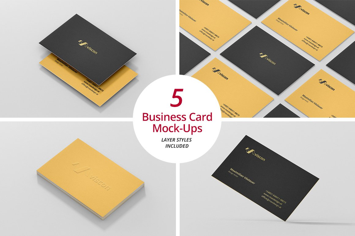 Business card mock ups product mockups creative market wajeb Images