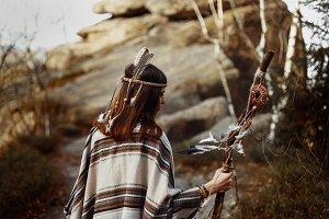 native indian american woman