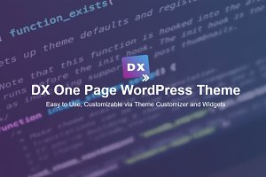 Dx - One Page WordPress Theme