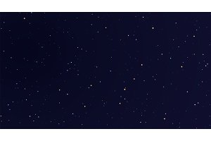 Space stars background. Light night sky vector