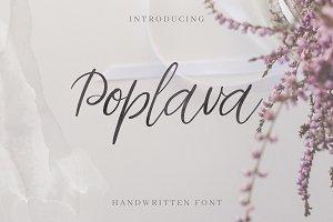 Poplava. Handwritten Font