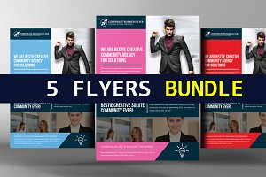 5 Employment Agency Flyers Bundle