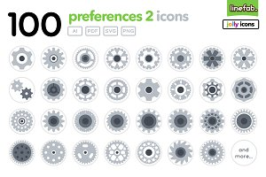 100 Preferences2 Icons - Jolly