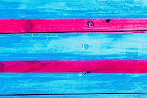 Wooden street background Colorful