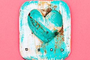Souvenir. Handmade. Wooden heart  Fl