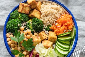 Colorful buddha bowl