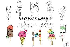 Ice creams & Umbrellas