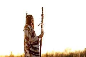 woman  shaman of sunset