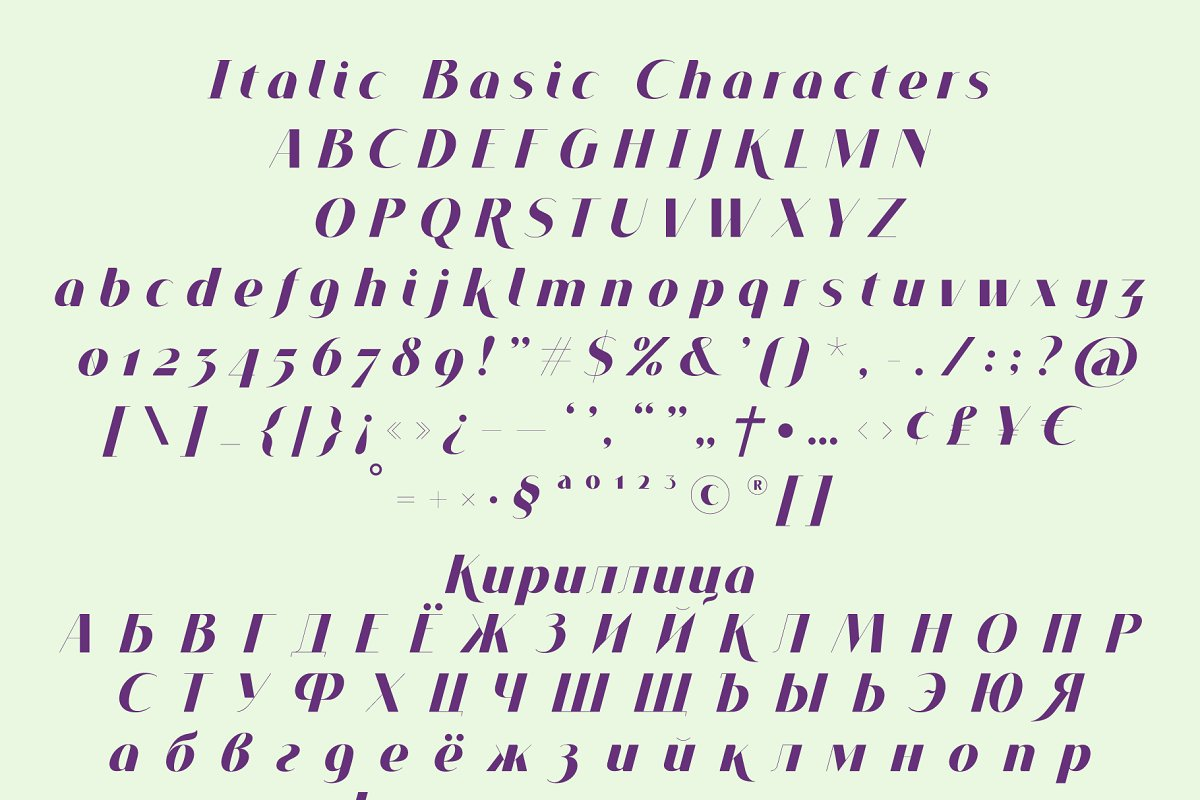 VOGUER Sans Italic in Italic Fonts - product preview 2