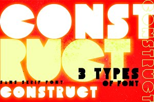 Construct | Three Weight Font Family