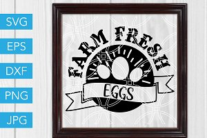 Farm Fresh Eggs SVG Farm SVG