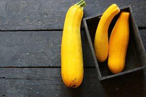 Raw Organic Yellow Zucchini