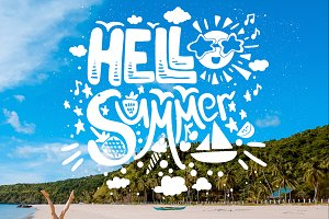 "Grunge Quote ""Hello Summer"""
