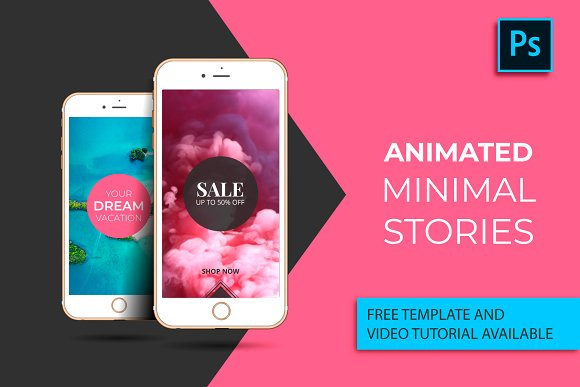 Stories for Instagram. Animated Pack