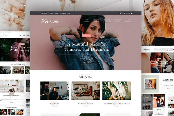 WordPress Magazine Themes - Mariann - Magazine WordPress theme