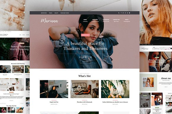 Mariann Woman Blog WordPress Theme