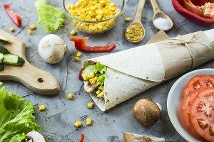 Mexican dish burrito