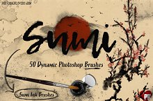 50 Sumi Brush Pack-Photoshop Brushes by Charlotte Salcedo in Brushes
