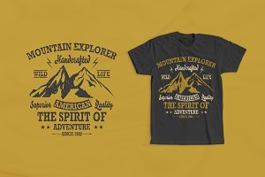 Mountain Explorer 1 T-shirt Design