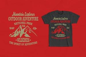 Mountain Explorer 2 T-shirt Design