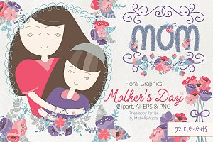 Mother's Day Clipart & Vector #15