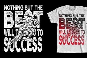 Football Success Quote Tshirt Design