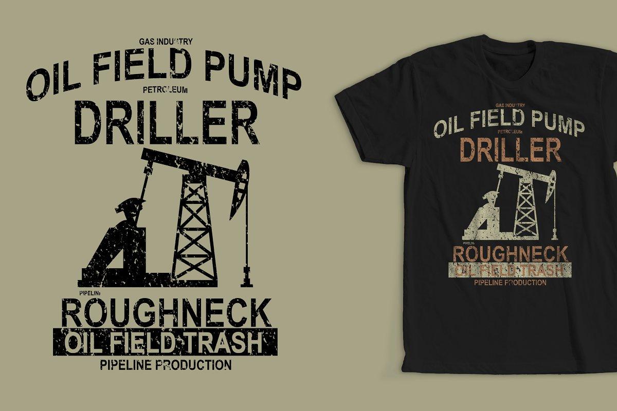 139744f41 Oil Field Pump T-shirt Design ~ Illustrations ~ Creative Market