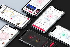 Map/Location UI Inspiration Template