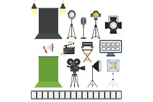 video porodaction studio objects icons