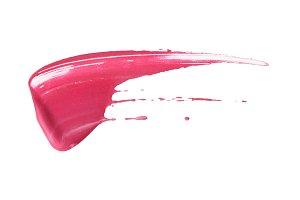 magenta acrylic color brush stroke