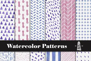 Colorful Watercolor Patterns