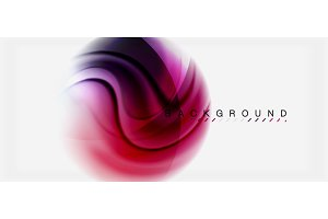 Swirl fluid flowing colors motion effect, holographic abstract background