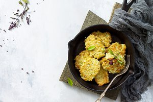 Vegan vegetable fritters.