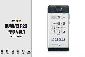 Huawei P20 Pro App Mockup Vol1