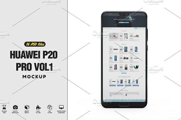 Download Huawei P20 Pro App Mockup Vol1