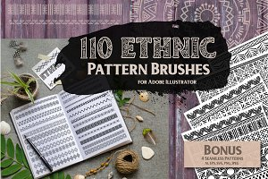 110 Ethnic Pattern Brushes