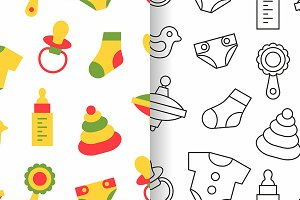 Pattern with baby things