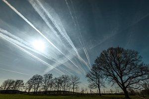 Jet trails...