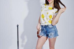 Girl tourist